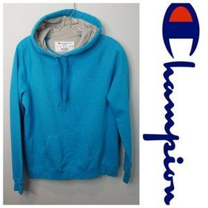 Champion turquoise blue hoodie Large